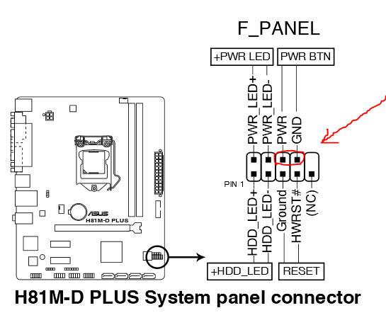 Asus H81M-D Plus Motherboard Power SW? | Tom's Hardware Forum