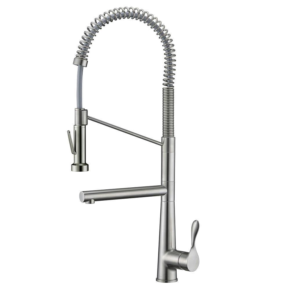 AB50 3787BN Spring Kitchen Faucet, Brushed Nickel