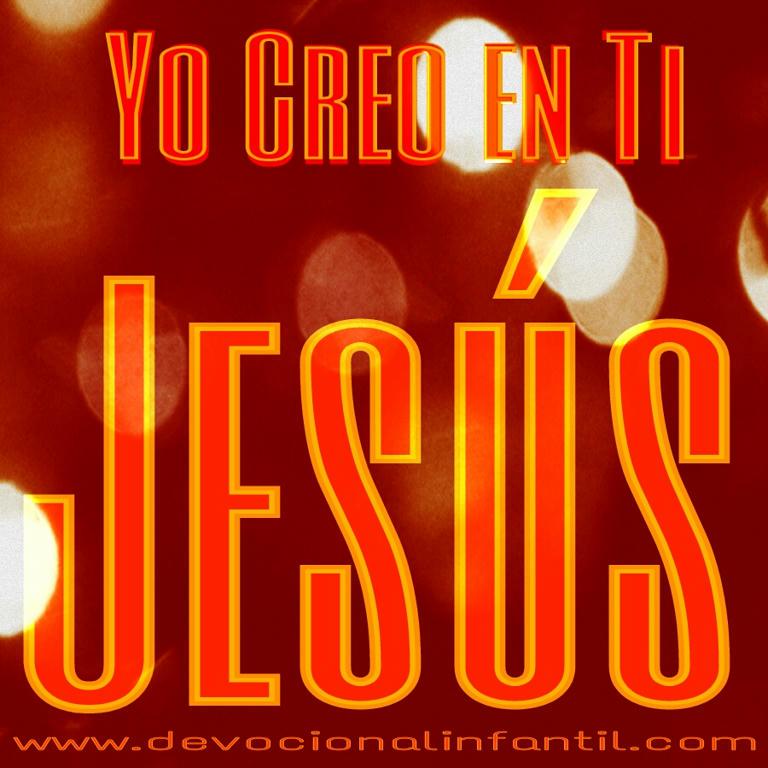 Creo en ti Jesús – Tarjeta