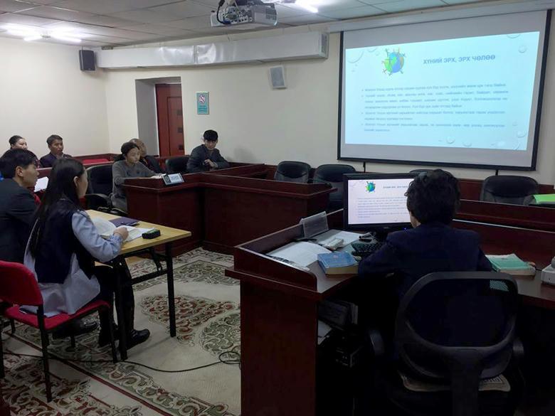 """""""Монгол Улсын Үндсэн хууль"""" сэдэвт сургалт зохион байгууллаа."""