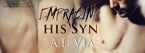 A.E. Via - Embracing His Syn Banner