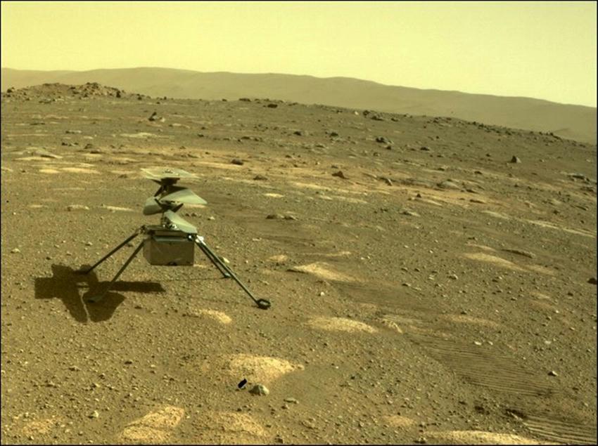 El Ingenuity sobrevivió su primera noche marciana