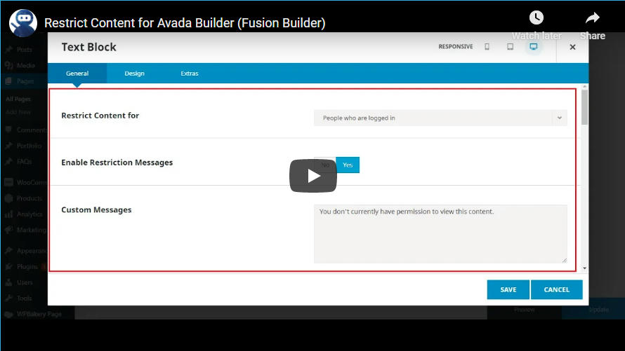 Restrict Content for Avada Builder (Fusion Builder) - 1