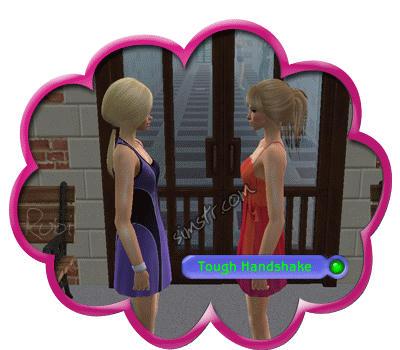 The Sims 2 Apartment Life Apartman Hayatı Tough Handshake Gesture Selamlama