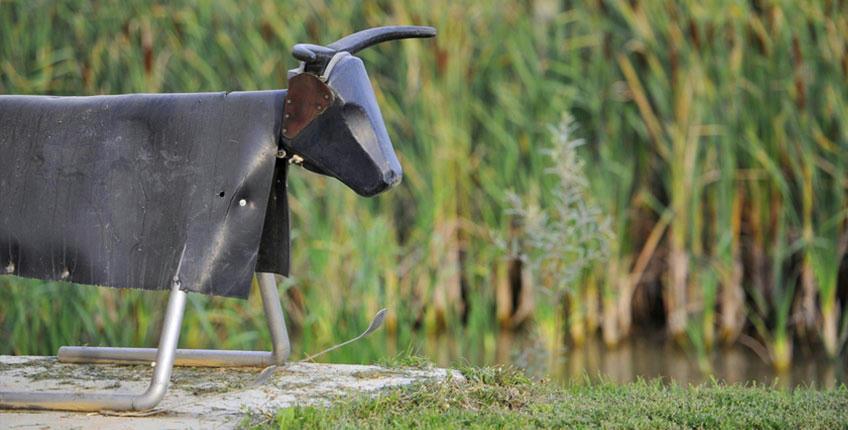 taureau de métal