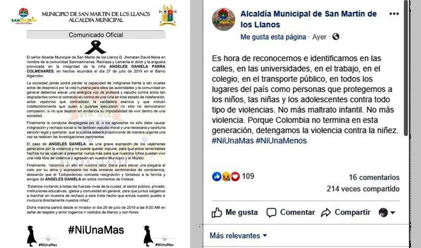 Ángeles Daniela Parra Colmenares, otra menor asesinada en una Colombia cercada por la violencia