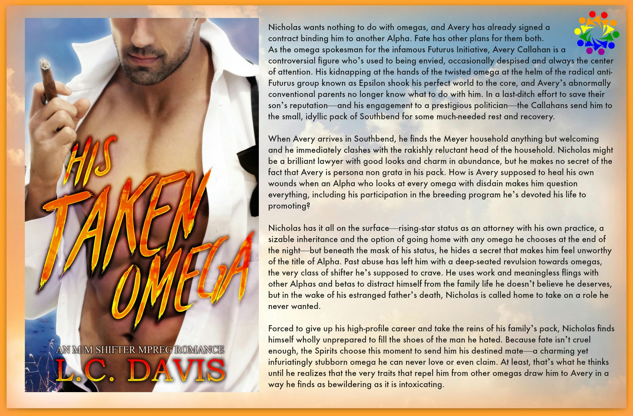 L.C. Davis - His Taken Omega BLURB