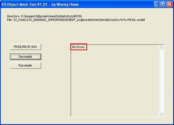 [Débutant] [Blender 2.4 à 2.49] Créer et intégrer son premier mesh de A à Z : 7-Import d'un objet du jeu dans Blender: s3oc, s3pe, s3objtool, et en option Sim3pack extractor installation et utilisation. 5b5jdh1v645ldrd6g