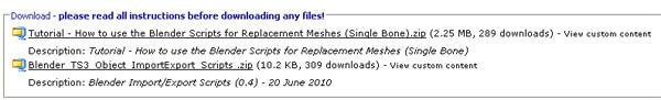 [Débutant] [Blender 2.4 à 2.49] Créer et intégrer son premier mesh de A à Z : 3-Téléchargement et installation des scripts d'import/export s3asc  Knc5qi1xijn03p16g