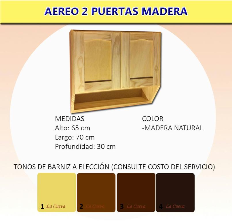 Mueble De Cocina Aereo 2 Puertas Alacena Madera