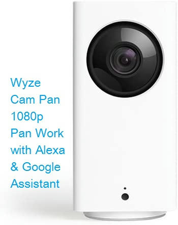 Wyze Cam Pan 1080p Pan Work with Alexa with Night Vision