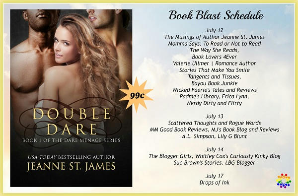 Jeanne St. James - Double Dare SCHEDULE