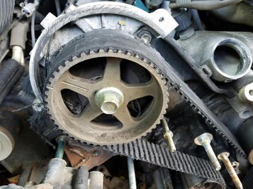 04 4runner V8 Sport 2uz-fe timing belt failure, aftermath