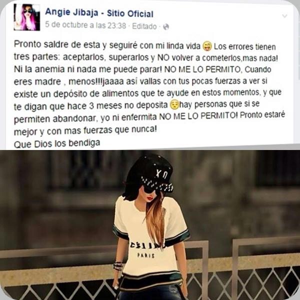 En-Facebook,-Angie-expresó-su-voluntad-de-vivir-y-reconoció-su-error