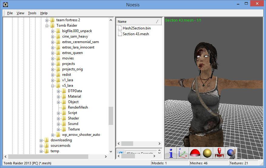 Noesis] Tomb Raider / Lara Croft Importer Plugins [W I P
