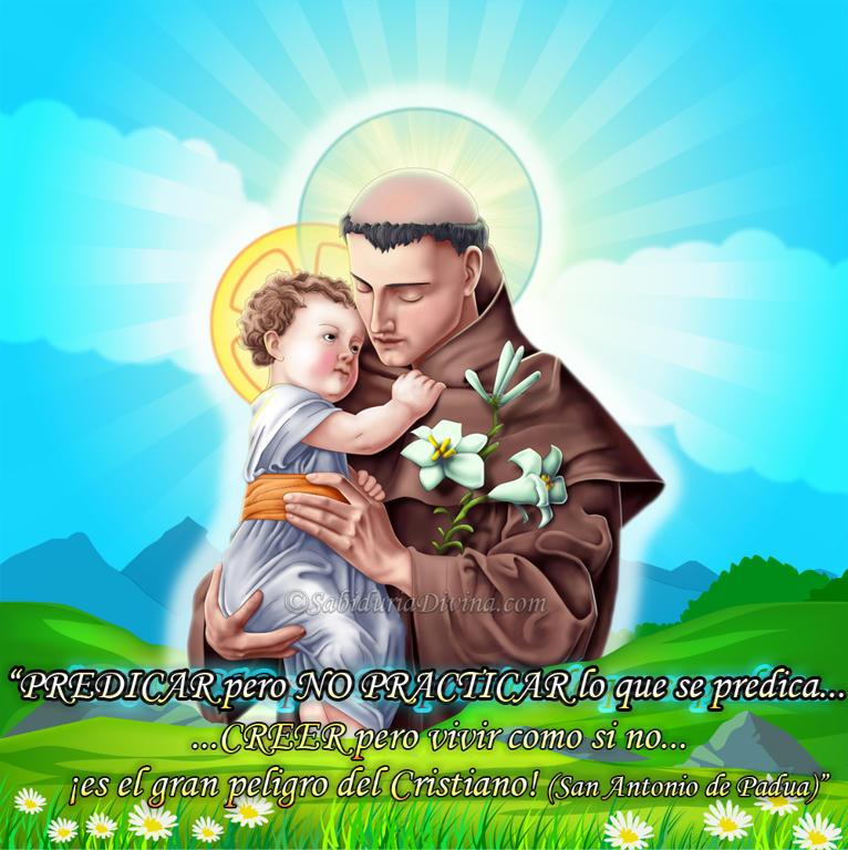 San Antonio de Padua con en Niño Jesus
