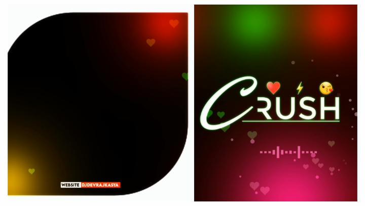 Crush Vector Frame Green screen Whatsapp Status Template