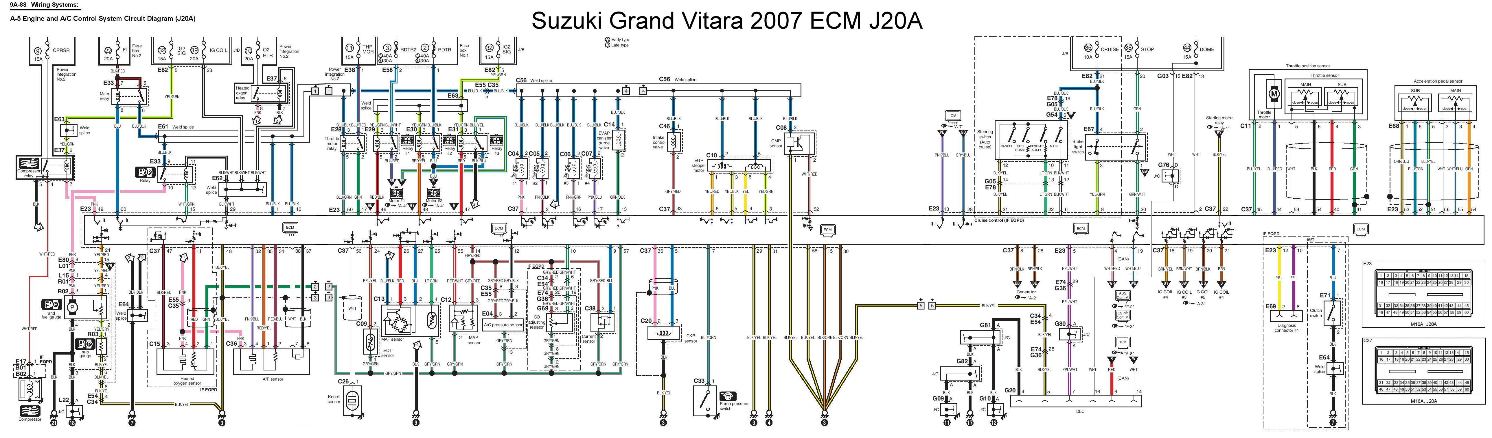 2006 suzuki grand vitara wiring diagram 39 wiring Suzuki Swift Engine Suzuki  G13 Engine