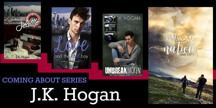 J.K. Hogan - Coming About series banner