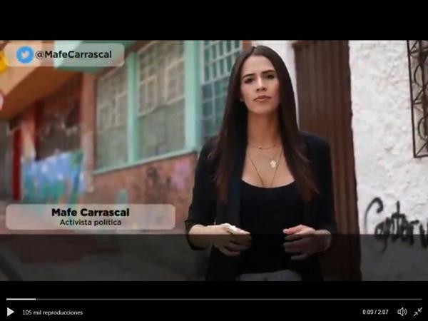Mafe Carrascal la Tuitera que desafía al hombre más poderoso de Colombia