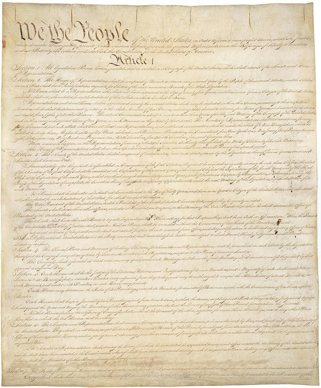 Page one of the constitution.