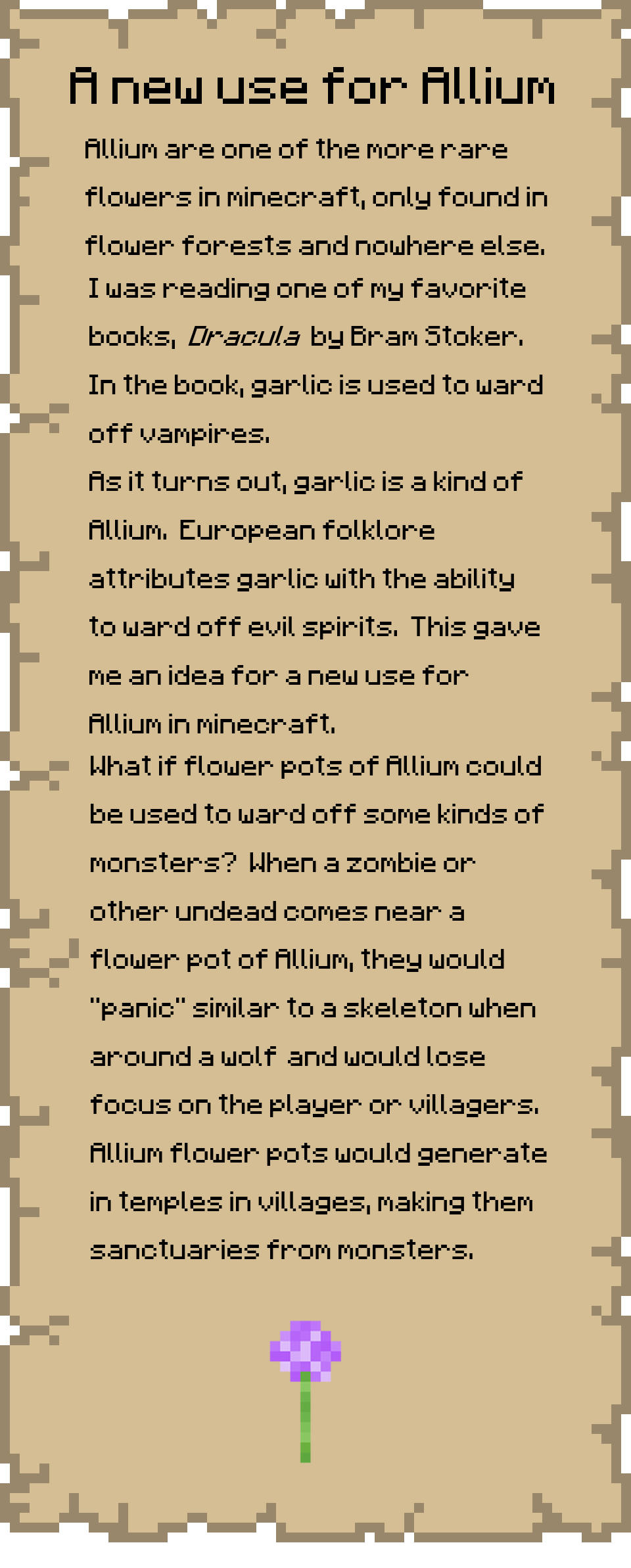 allium suggestion