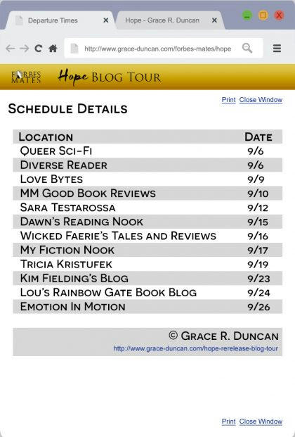 Grace R. Duncan - Hope Tour Promo