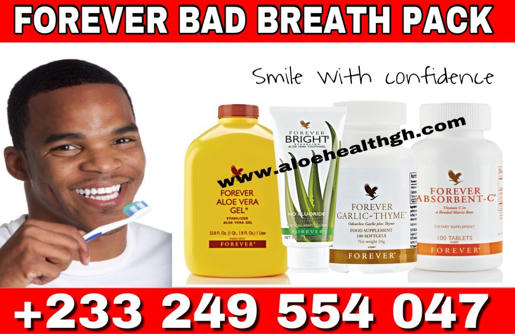 eliminate bad breath with forever living halitosis pack