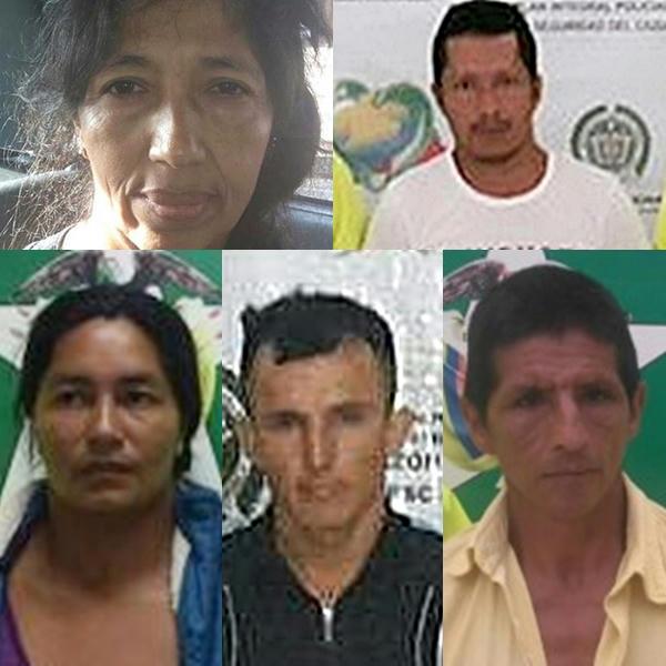 Blanca-Digna-López-López,-José-Germán-Paiguatián-Insandará,-Gladys-Yolanda-Pinta,-Erwin-David-Quintero-Martínez-y-Luis-Antonio-López-Ojeda,-los-presuntos-cinco-integrantes-de-la-banda-de-secuestradores