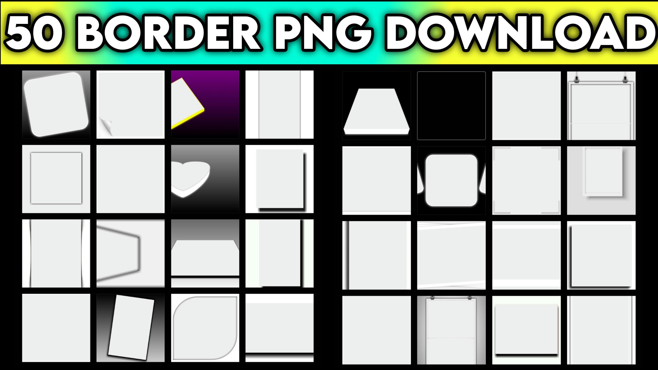 Best Top 50 Border Download Free For Avee Player And Kinemaster Use