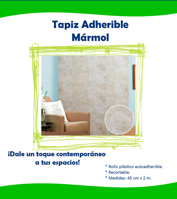 Tapiz adherible m rmol betterware vinil decora remodela for De donde sale el marmol