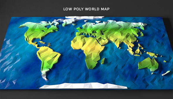 Low poly earth by arakelov 3docean flat map here gumiabroncs Image collections