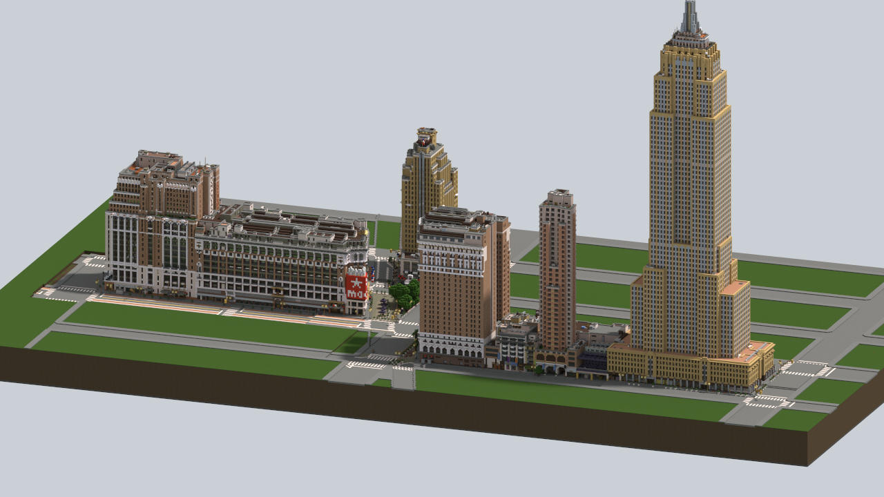 Map New York Minecraft Xbox.Midtown Manhattan New York City Download V2 2 Minecraft Project