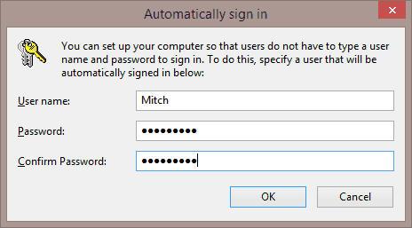 windows 10 auto login feature