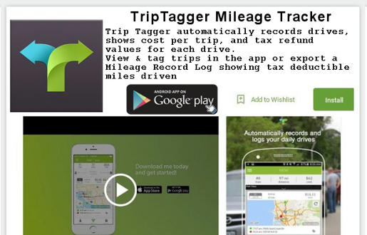 Trip Tagger Android mileage tracking App
