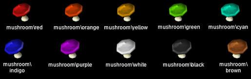 [ObjectTex] Recoloured Mushrooms O81w91qge83wm544g