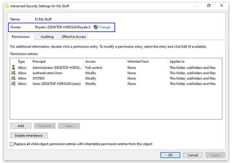Melihat Owner File atau folder di Windows
