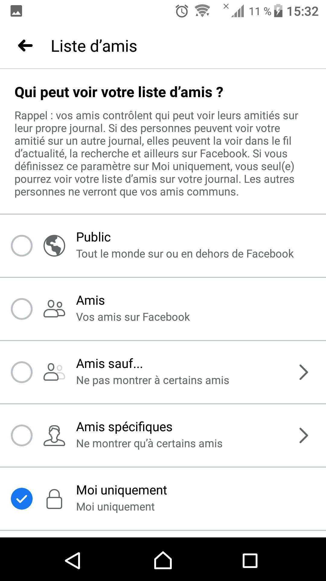 كيفية اخفاء الاصدقاء على الفيس بوك لايت