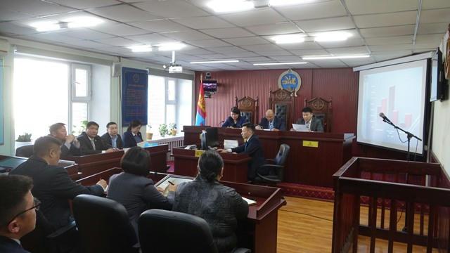 Шүүхийн ерөнхий зөвлөлийн гишүүн Д.Эрдэнэчулуун Хөвсгөл аймгийн шүүхэд ажиллаа