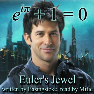 cover art for podfic - Euler's Jewel - John with the equation.