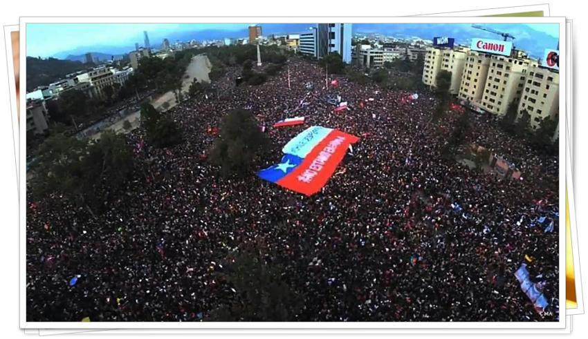 Los vientos de la indignación de Chile en videos