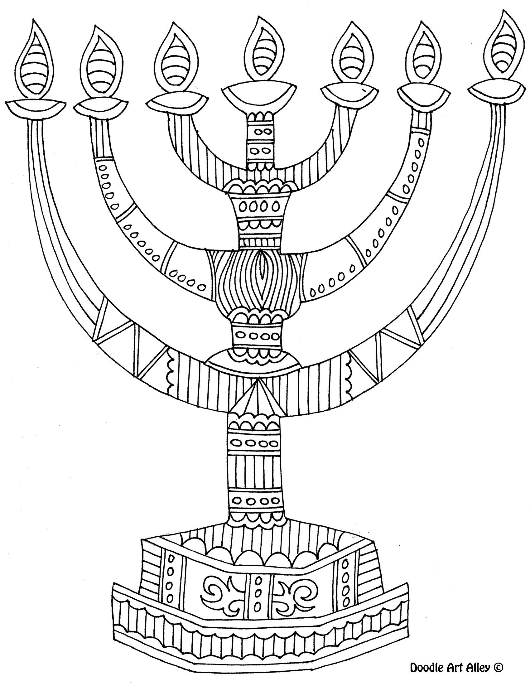menorah coloring pages printable - photo#11