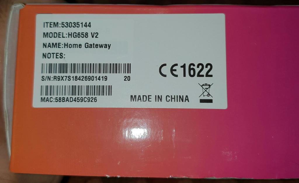 للبيع موديم + راوتر HUAWEI HG658V2 من STC جديد - البوابة
