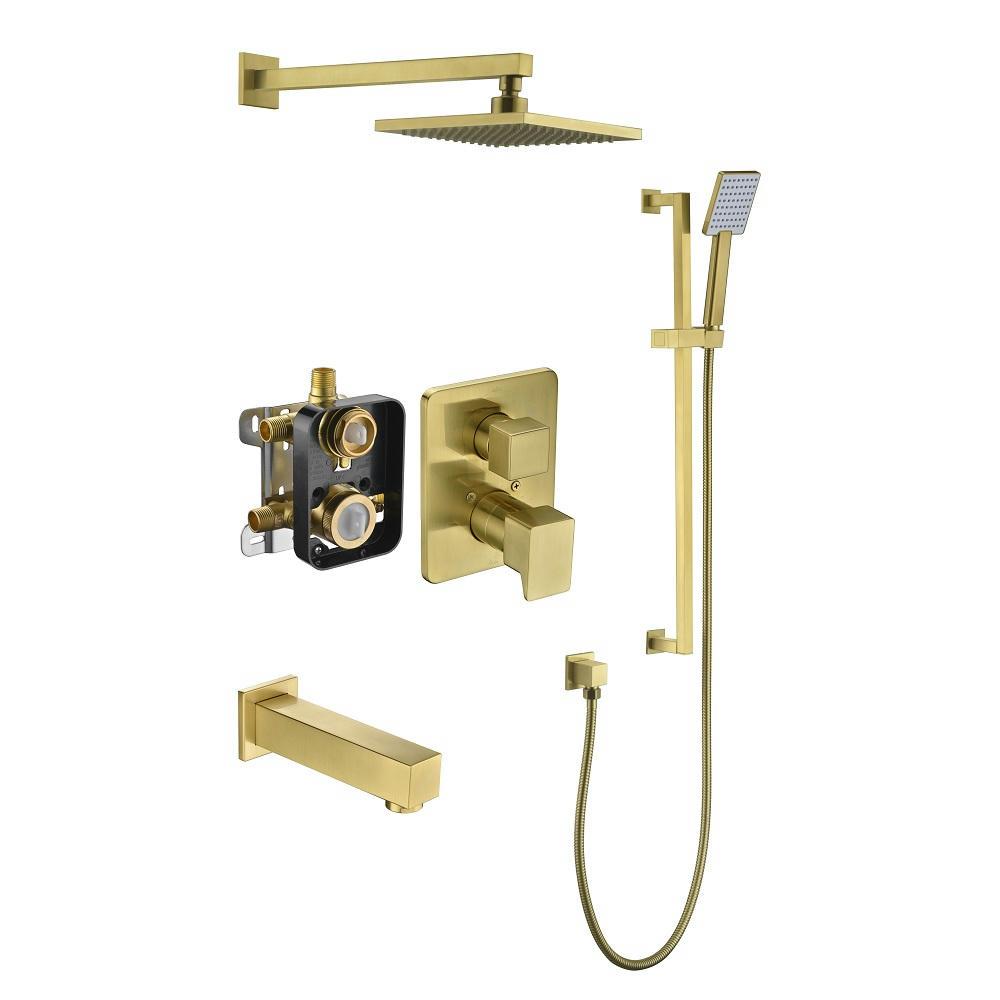 Biscayne Shower Set DSSBE08MAG Matte Gold