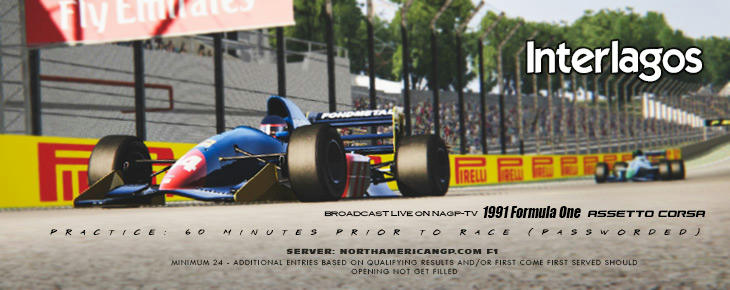 Round Two of NAGP's 1991 F1 Series From Interlagos Tonight