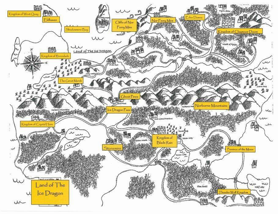 Hurri Cosmo - Ice Dragon Tales Map