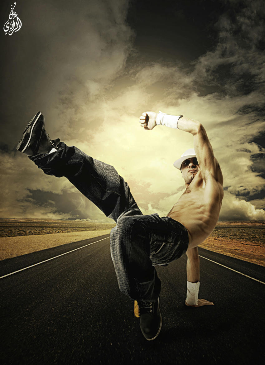 تصميم بعنوان(Hip-hop dancer) راقص الهيب هوب