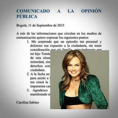La-actriz-Carolina-Sabino,-publicó-anoche-un-comunicado-de-prensa-en-su-cuenta-de-Twitter