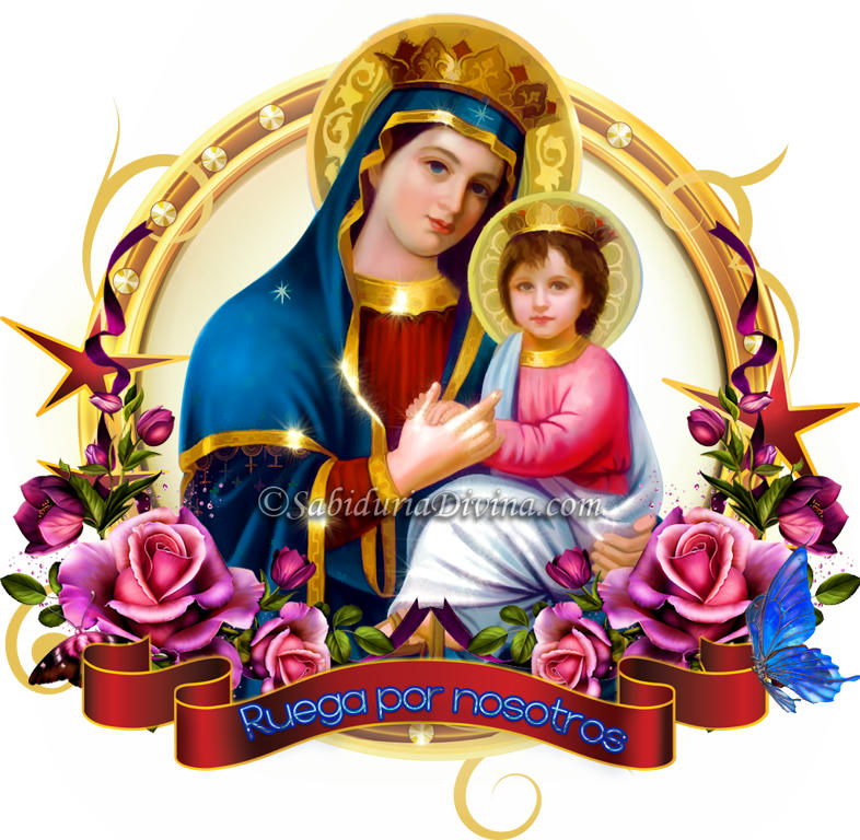 virgen maria y niño jesus