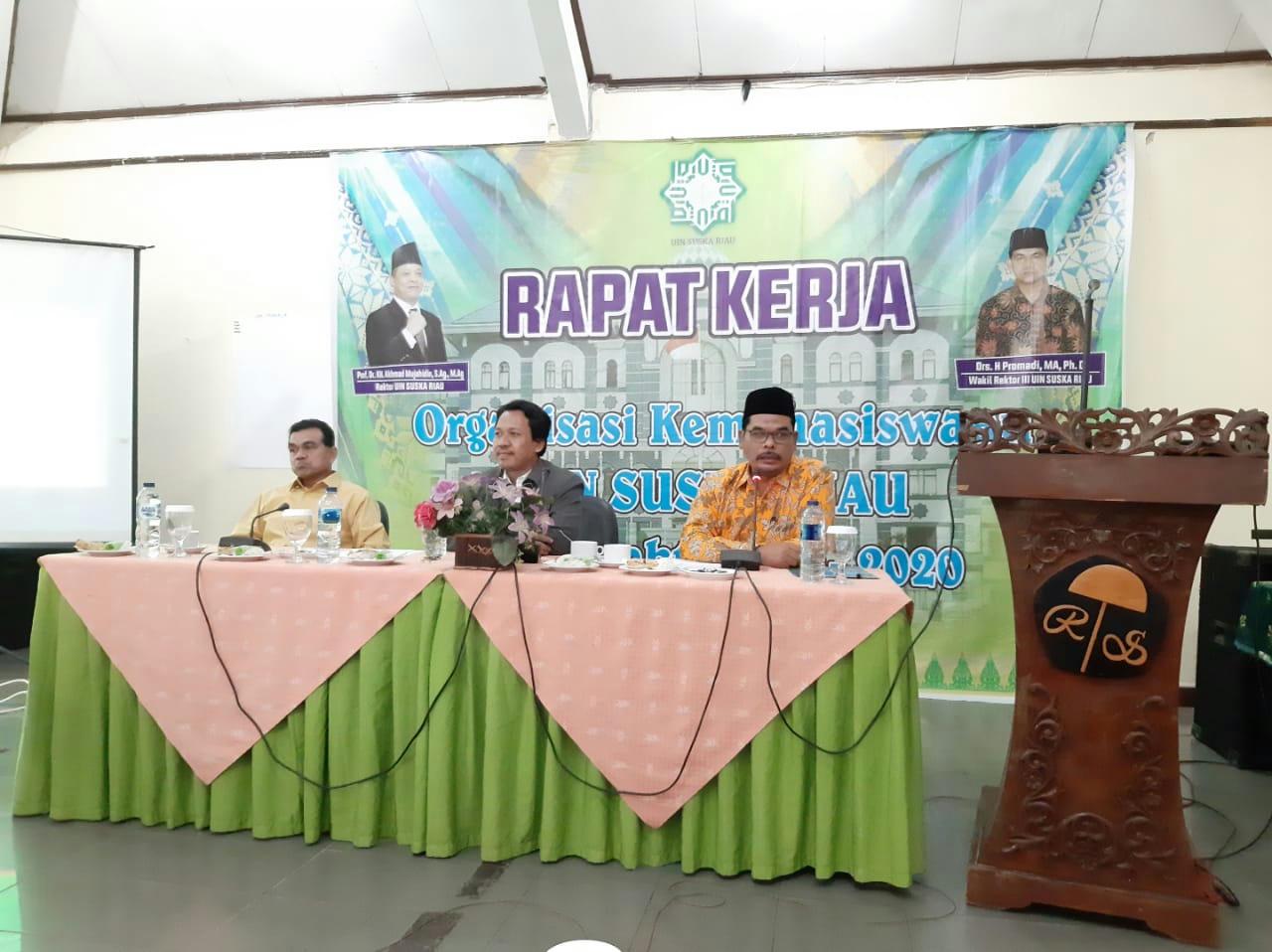Raker Kemahasiswaan UIN Suska Riau: Ormawa Titik Sentral Membangun Idealisme Mahasiswa